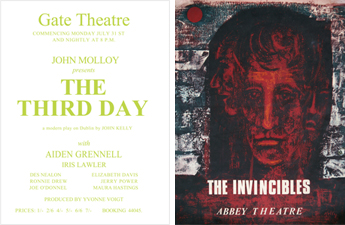 "John Kelly's ""The Third Day"" poster; ""The Invincibles"" poster"